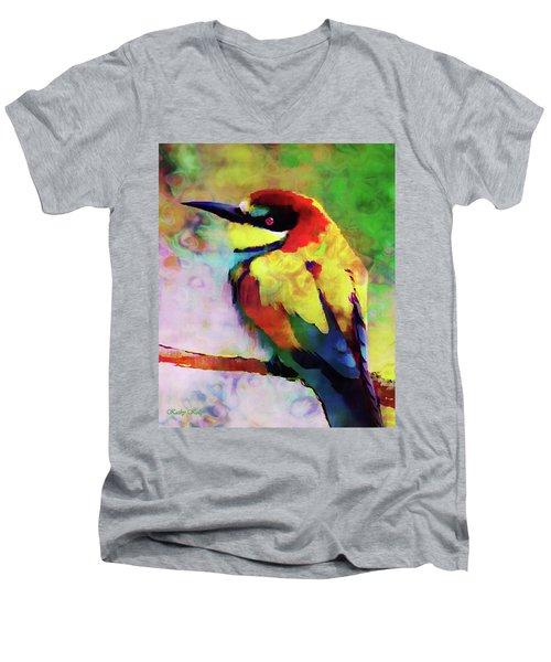 Painted Bee Eater Men's V-Neck T-Shirt