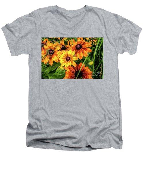 Painted Blossoms Men's V-Neck T-Shirt