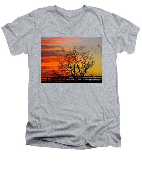 Painted By The Sun Men's V-Neck T-Shirt