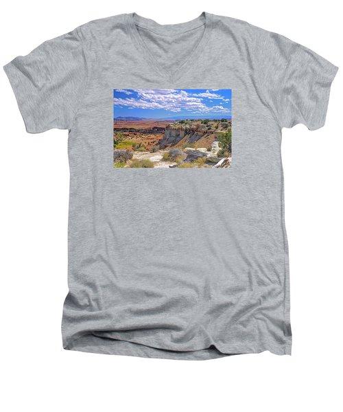 Painted Desert Of Utah Men's V-Neck T-Shirt
