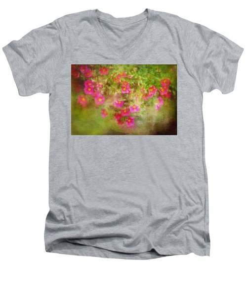 Painted Flowers Men's V-Neck T-Shirt