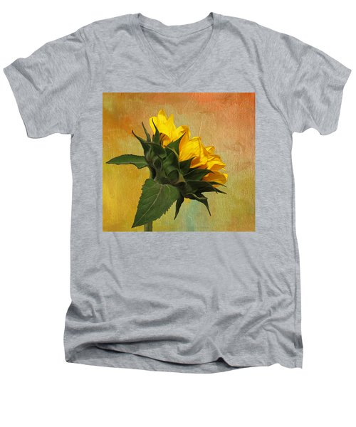 Painted Golden Beauty Men's V-Neck T-Shirt by Judy Vincent