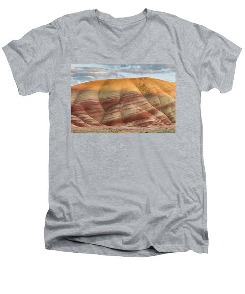 Painted Hill At Last Light Men's V-Neck T-Shirt by Greg Nyquist