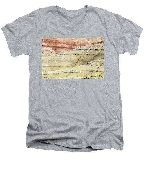 Painted Hills Ridge Men's V-Neck T-Shirt by Greg Nyquist