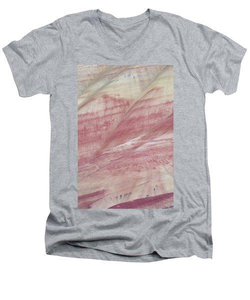Painted Hills Textures 1 Men's V-Neck T-Shirt by Leland D Howard