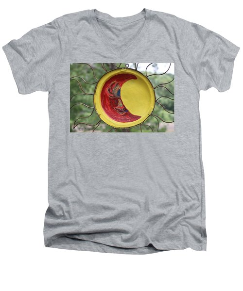 Painted Men's V-Neck T-Shirt