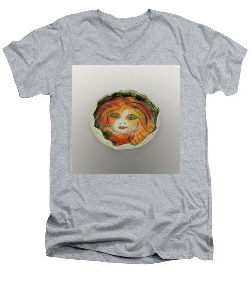 Painted Lady-1 Men's V-Neck T-Shirt