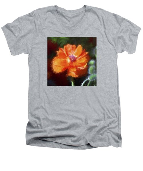 Painted Poppy Men's V-Neck T-Shirt