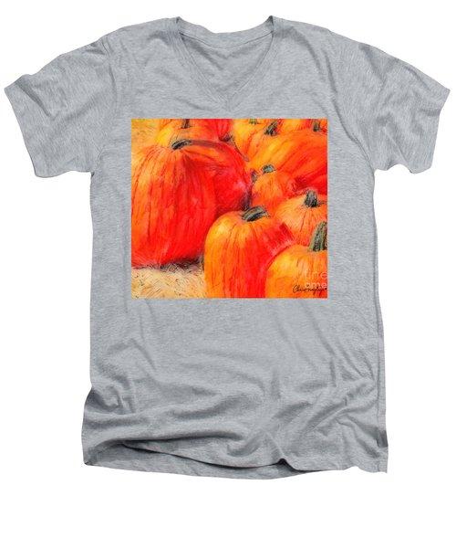 Painted Pumpkins Men's V-Neck T-Shirt