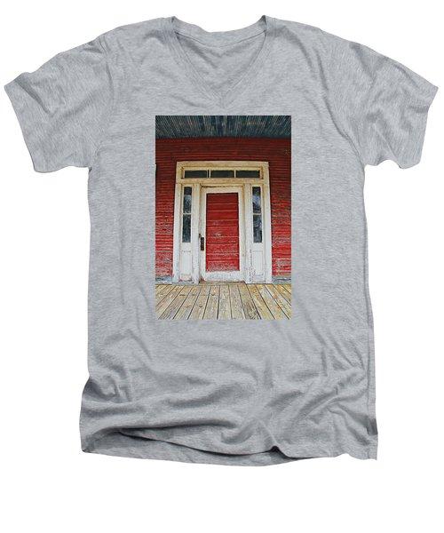 Painted Red Men's V-Neck T-Shirt by Lynn Jordan