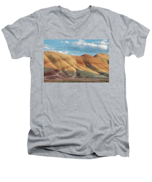 Painted Ridge And Sky Men's V-Neck T-Shirt by Greg Nyquist