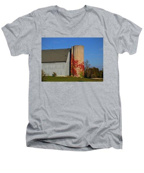 Painted Silo Men's V-Neck T-Shirt