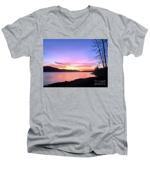 Men's V-Neck T-Shirt featuring the photograph Painted Sky by Victor K
