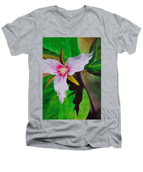 Painted Trillium Men's V-Neck T-Shirt