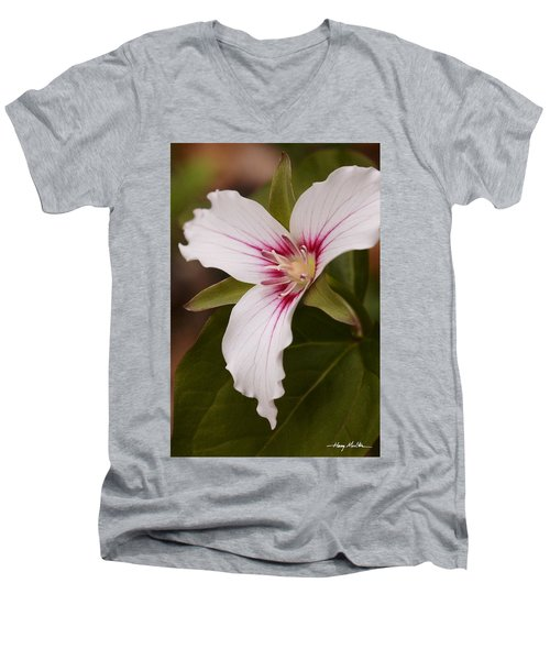 Painted Trillium II Men's V-Neck T-Shirt