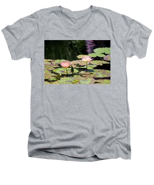 Painted Waters - Lilypond Men's V-Neck T-Shirt