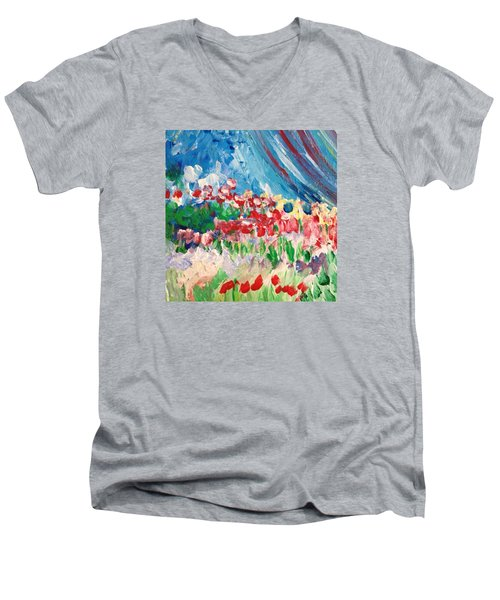 A Corner Of Her Men's V-Neck T-Shirt