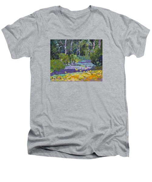 Painting Pixie Forest Men's V-Neck T-Shirt by Chris Hobel