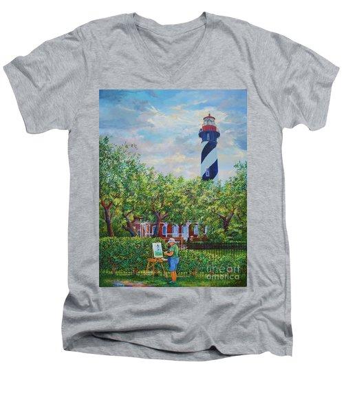 Painting The Light Men's V-Neck T-Shirt