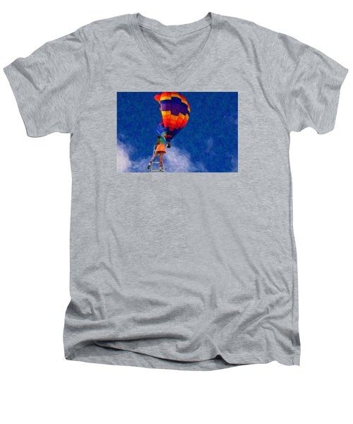 Painting The Sky Men's V-Neck T-Shirt by Andre Faubert