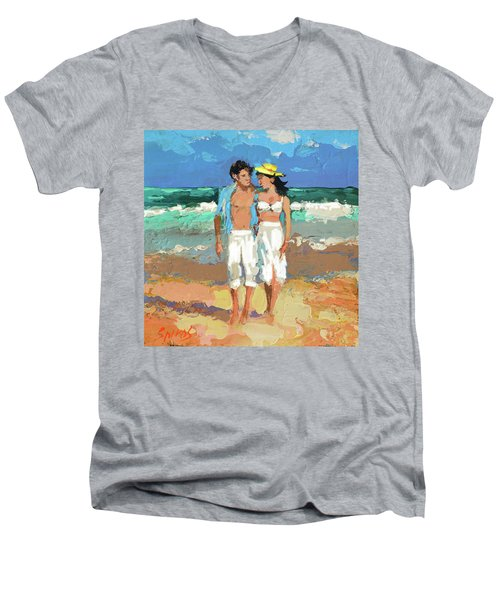 Pair By The Sea Men's V-Neck T-Shirt