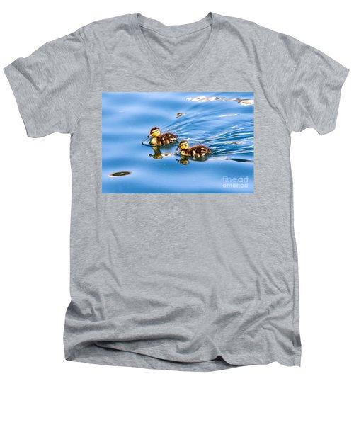 Duckling Duo Men's V-Neck T-Shirt