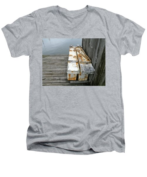 Men's V-Neck T-Shirt featuring the photograph Paired Up by Anna Ruzsan