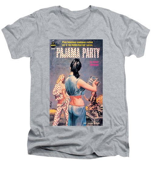 Pajama Party Men's V-Neck T-Shirt by Paul Rader