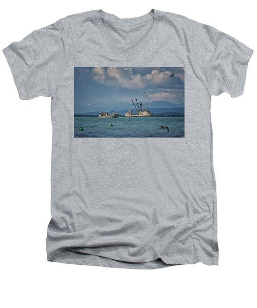 Pakalot Men's V-Neck T-Shirt by Randy Hall