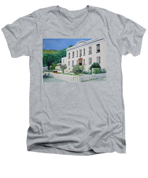 Palace Barracks Men's V-Neck T-Shirt by Tim Johnson