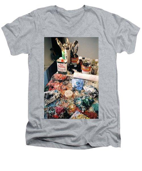 Palette Men's V-Neck T-Shirt