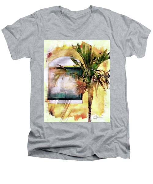 Palm And Window Men's V-Neck T-Shirt by Robert Smith