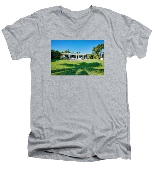 Palm Back Yard Men's V-Neck T-Shirt