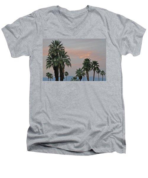 Palm Desert Sunset  Men's V-Neck T-Shirt