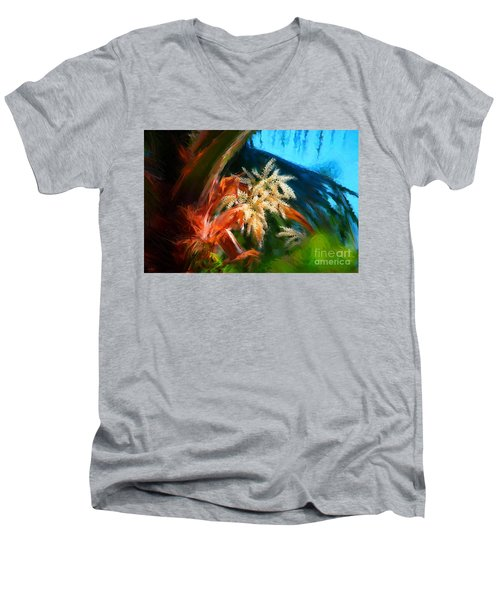 Palm Flowers Men's V-Neck T-Shirt