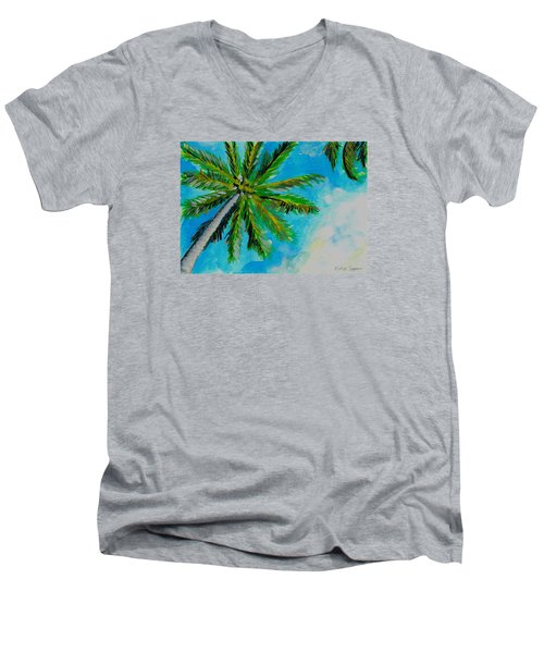 Palm In The Sky Men's V-Neck T-Shirt