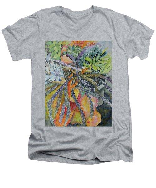 Palm Springs Cacti Garden Men's V-Neck T-Shirt
