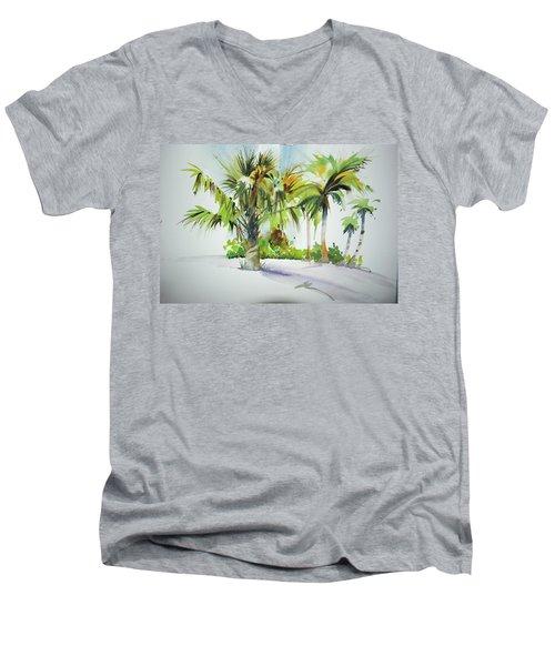 Palm Sunday Men's V-Neck T-Shirt by P Anthony Visco
