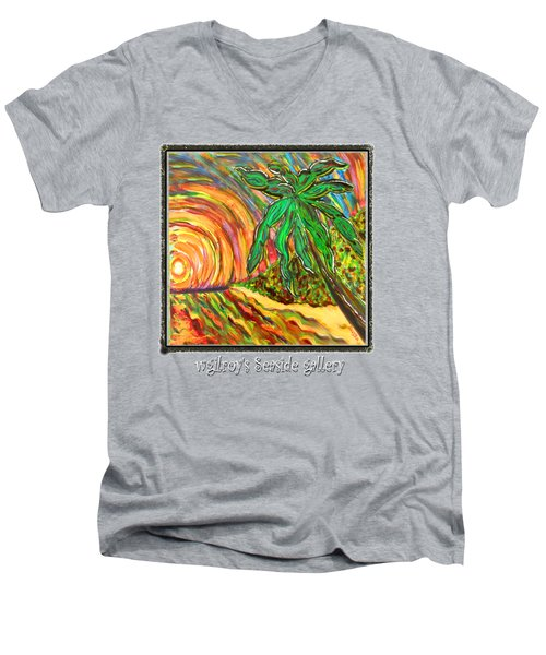 Palm Sunrise Sunset Men's V-Neck T-Shirt