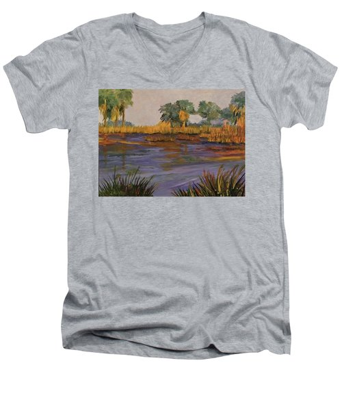 Palm Tree Hideaway  Men's V-Neck T-Shirt
