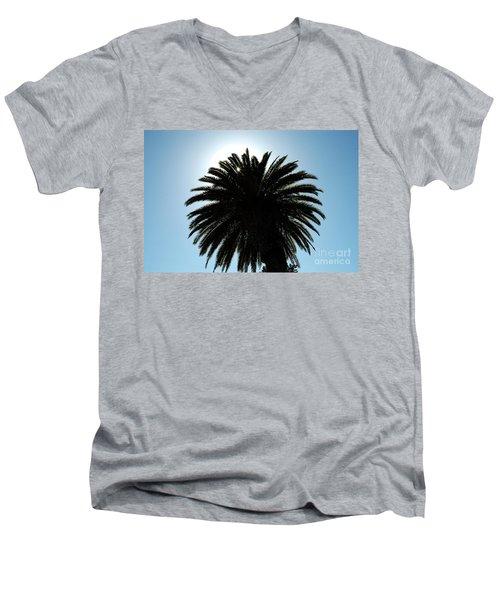 Palm Tree Silhouette Men's V-Neck T-Shirt
