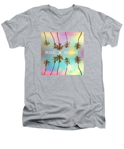 Palm Trees Men's V-Neck T-Shirt by Mark Ashkenazi