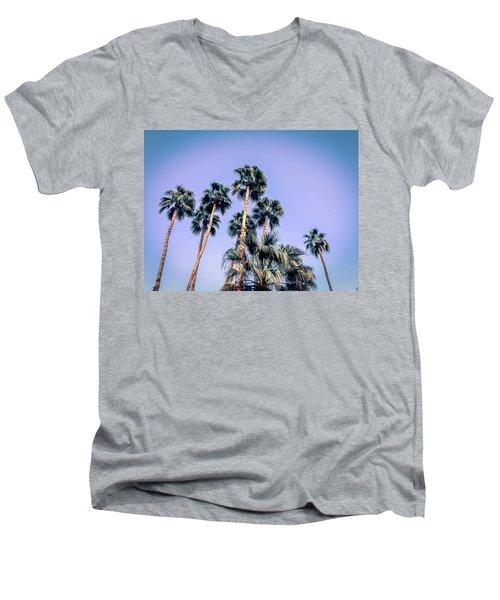 Palm Trees Palm Springs Summer Men's V-Neck T-Shirt