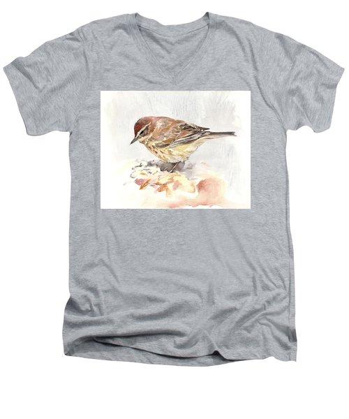 Palm Warbler Men's V-Neck T-Shirt