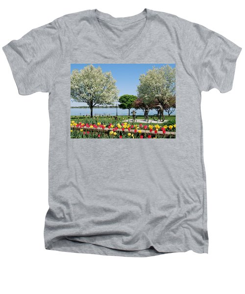 Palmer Park In Spring Men's V-Neck T-Shirt