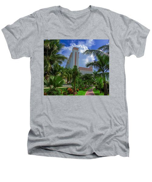 Palms At The Riu Cancun Men's V-Neck T-Shirt