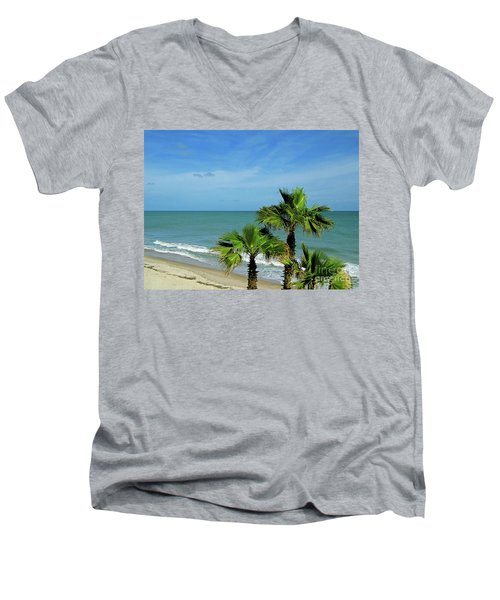 Palms At Vero Beach Men's V-Neck T-Shirt