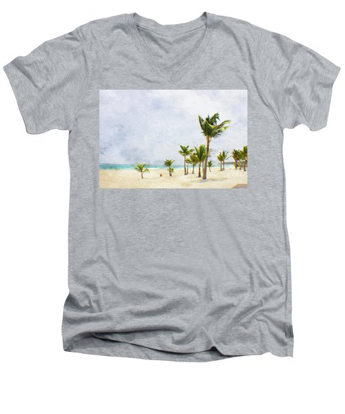 Palmtrees In Punt Cana Men's V-Neck T-Shirt