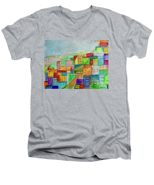 Palmyra Men's V-Neck T-Shirt by Kim Nelson