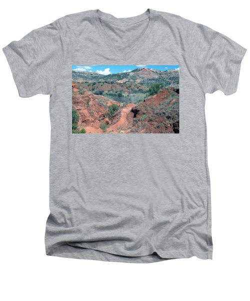 Palo Duro Canyon Men's V-Neck T-Shirt